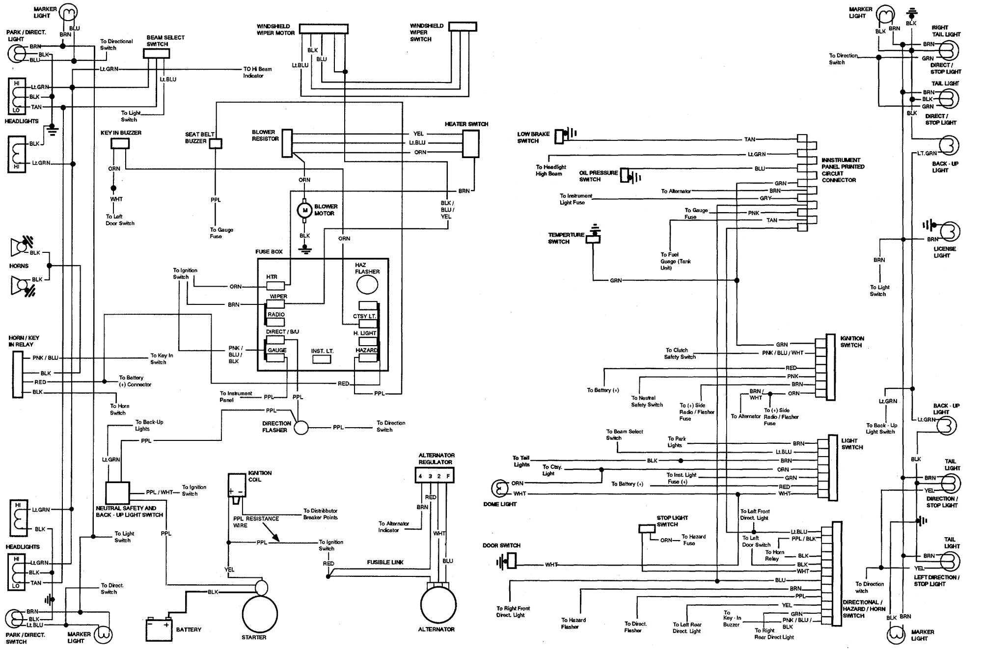 72 chevelle alternator wiring diagram