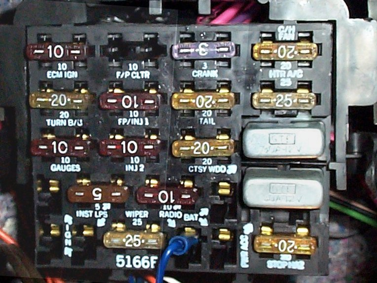Fusepanel on 1992 Chevy Pickup Wiring Diagram
