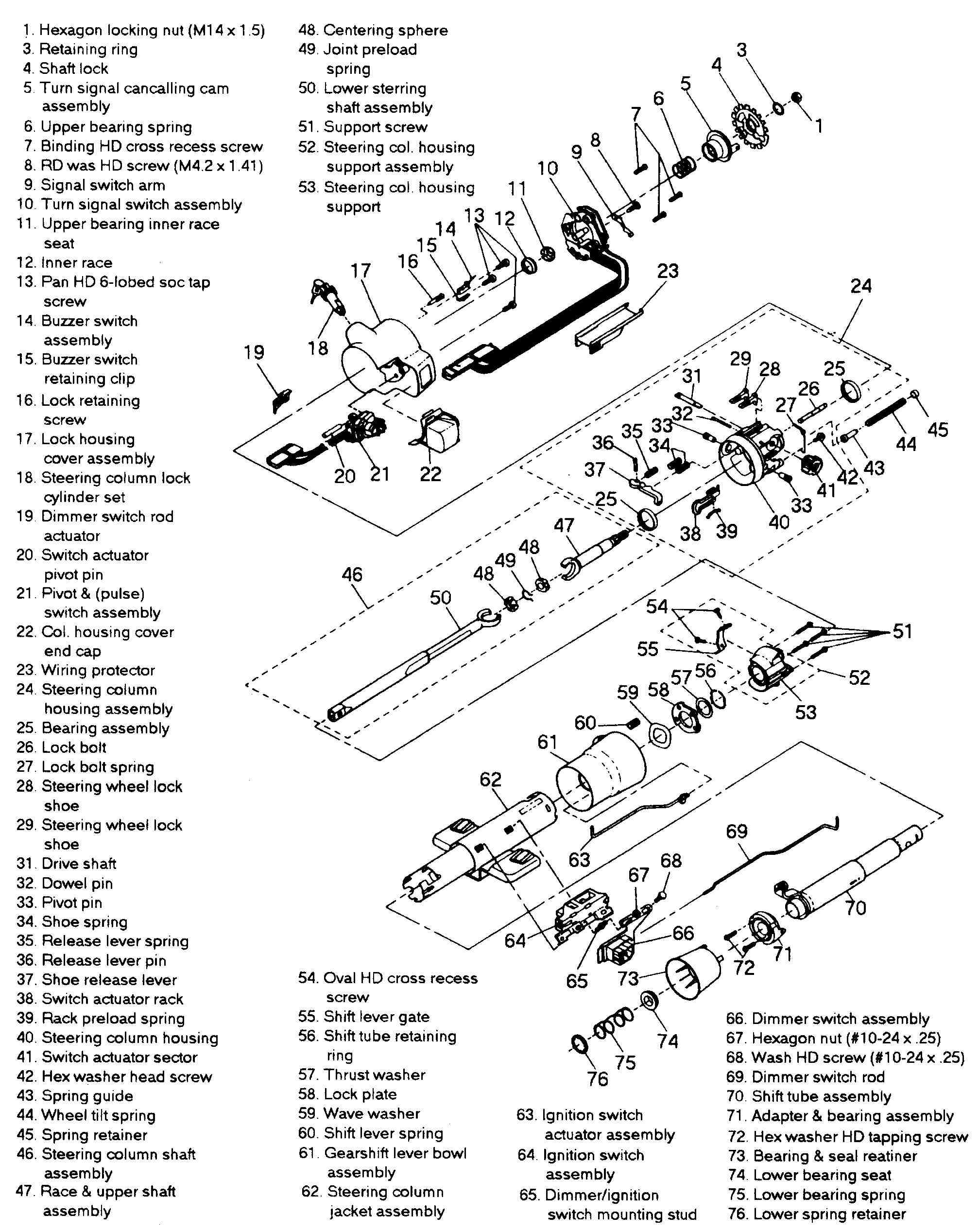 91 chevy s10 steering column diagram